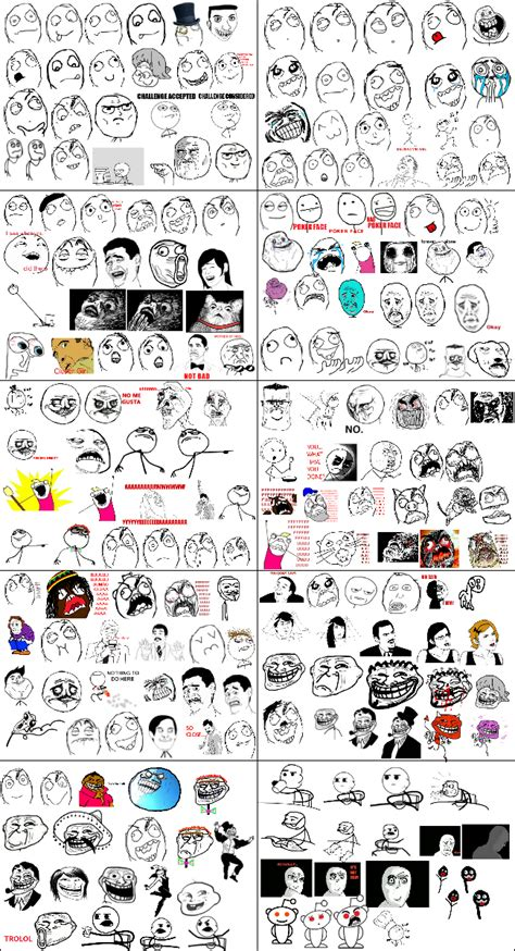All Meme Faces List And Names - rage comics teh meme wiki fandom powered by wikia