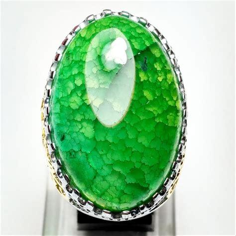 Batu Cincin Sisik Naga jual cincin batu akik sisik naga hijau di lapak ari