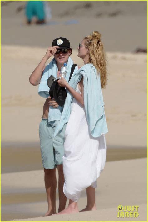 Heidi Klum Strolls Along The Beach With Boyfriend Vito