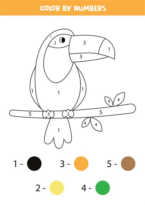printable color  number worksheets  kindergarten tulamama