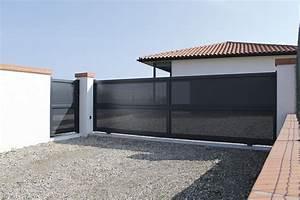 Portail En Fer Lapeyre : pose portail coulissant lapeyre portail pinterest ~ Premium-room.com Idées de Décoration