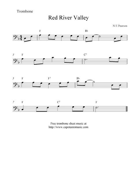 Stephen started with normans in 2014 after graduating from london college of music with a bmus in tenor trombone performance. Red River Valley, free trombone sheet music notes