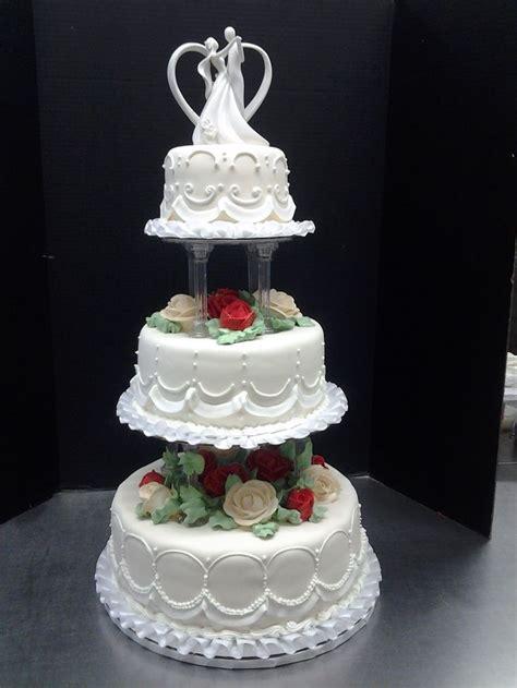 tier wedding cakes  pillars tier wedding cake