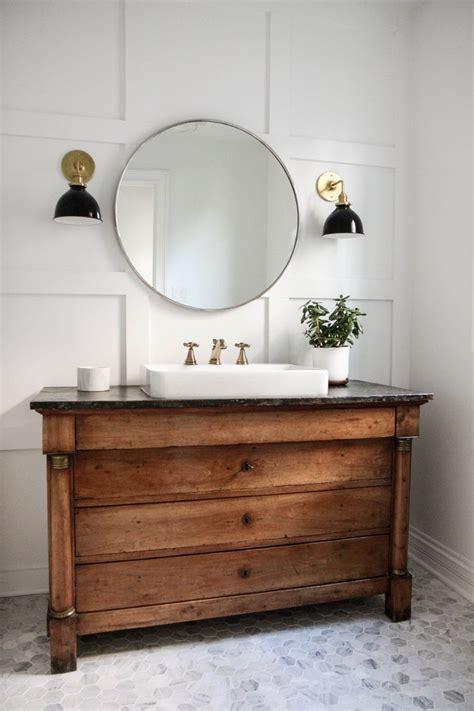 chicago wood vanity mirror bathroom farmhouse