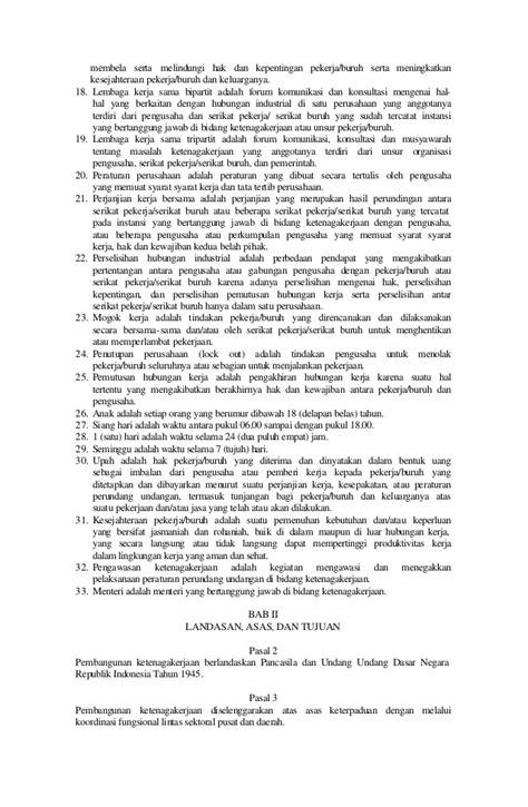 655972 uu no. 13 tahun 2003 tentang ketenagakerjaan