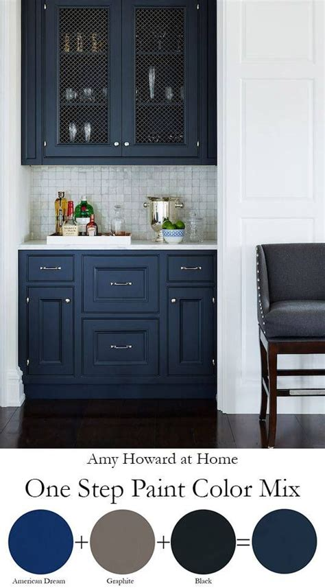 navy blue cabinet paint one step paint color mix amyhowardathome color