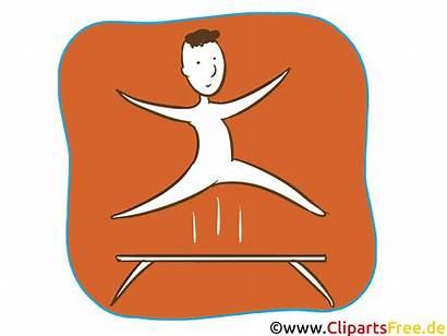 Clipart Icon Gymnastik Sommerspiele Olympische Ikon Gymnastics