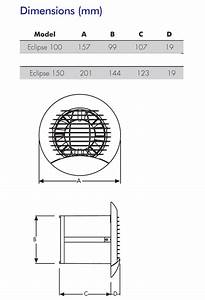 Eclipse 150xp Bathroom Kitchen Toilet Wall Or Ceiling Mounted Extractor Fan By Vent Axia    Vent