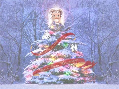 betty page under the christmas tree betty boop wallpapers wallpaper cave