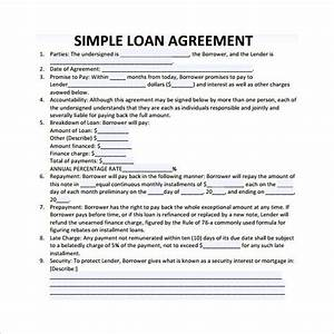 loan agreement form template business With no documentation personal loan
