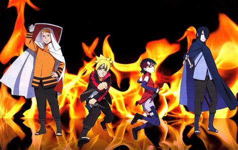 Naruto Sasuke Boruto Sarada Fire Wallpaper 2 By Weissdrum