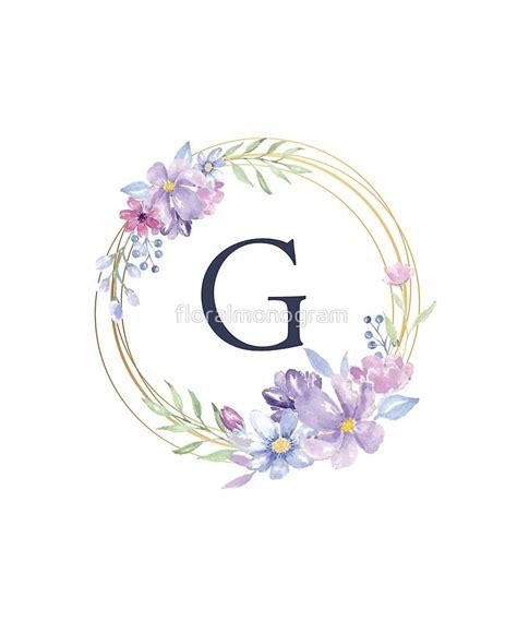 monogram  spring floral circle sticker  floralmonogram   letter wall art color