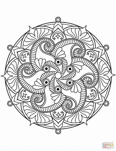 Mandala Mandalas Coloring Blumen Ausmalbilder Flower Ausmalbild
