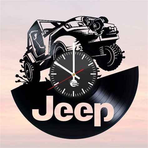 Jeep Handmade Vinyl Record Wall Clock Fan Car Design
