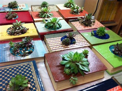 succulent planter  vintage books hgtv
