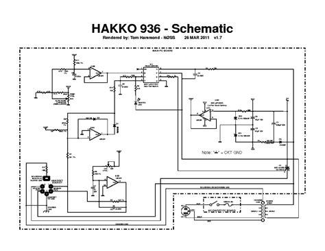hakko 936 instruction service manual download schematics eeprom repair info for