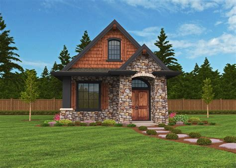 This stunning small lodge house plan will steal your heart