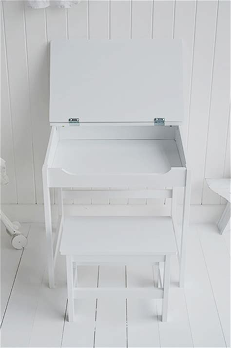 kids white desk chair children 39 s white desk and chair with liftable lid for storage