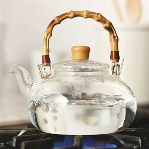 buddha belly glass and bamboo tea kettle the green