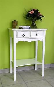 Beistelltisch Weiß Vintage : massivholz konsolentisch wandtisch beistelltisch 80x57 holz massiv wei vintage ~ Yasmunasinghe.com Haus und Dekorationen