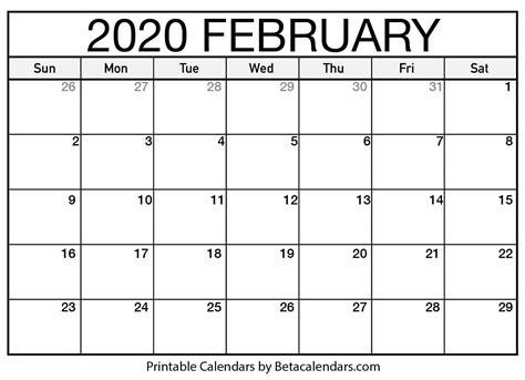 blank february calendar printable beta calendars