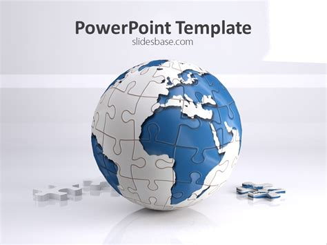 download game world template world puzzle powerpoint template slidesbase
