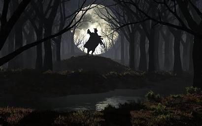 Forest Scary Spooky Desktop Fantasy Rider