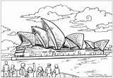 Coloring Australia Opera Colouring Sydney Australian Around Uluru Flag Printable Activityvillage Viewers Map History Travel Activity Classroom Activities Related Continent sketch template