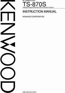 Ts 870s Kenwood 870 User Manual