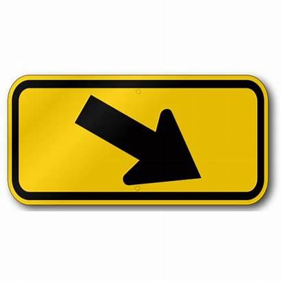 Arrow Right Crosswalk Traffic W16 Placard Signs