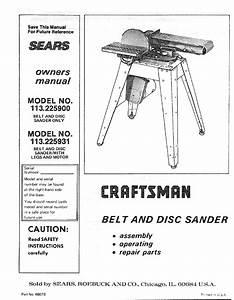 Craftsman Sander 113 225900 User Guide