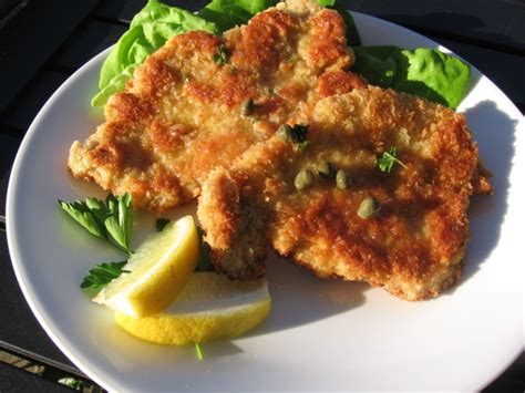Panko-coated Chicken Schnitzel With Capers And Lemon