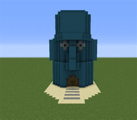 squidwards house grabcraft  number  source  minecraft buildings blueprints tips