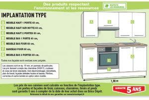 meuble cuisine bas 120 cm les cuisines brico dépôt