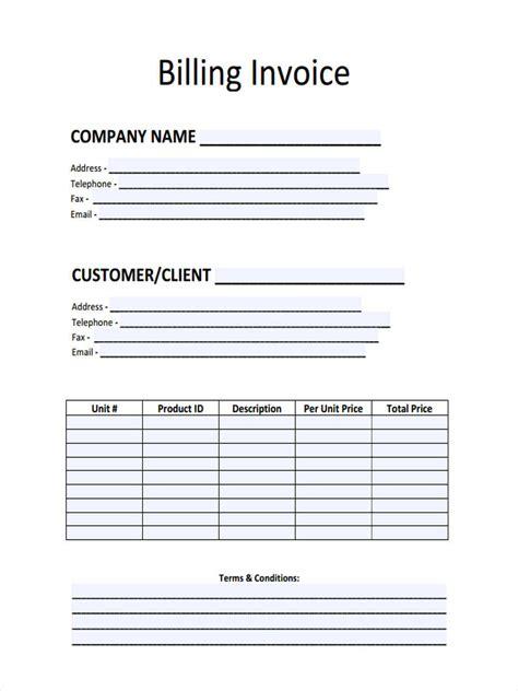 printable invoice form samples  sample