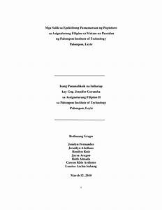 Cover Page Term Paper Research Paper In Filipino