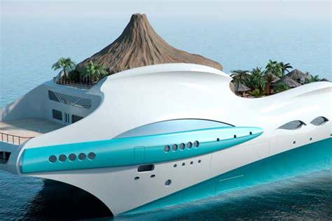 Luxury Tropical Island Yacht Concept