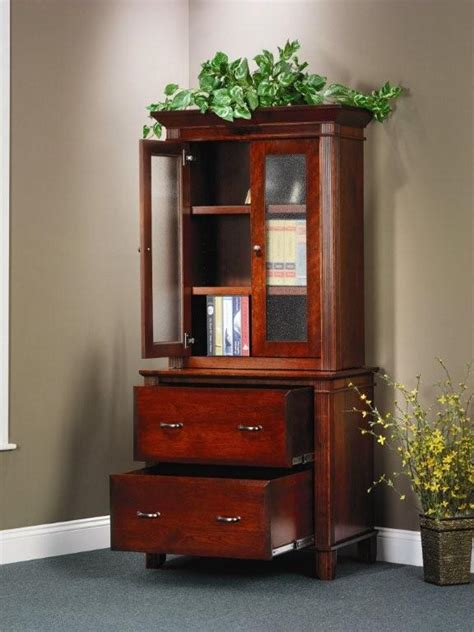 amish arlington executive lateral file cabinet  hutch