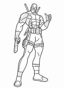 Deadpool Superheroes U2019 Printable Coloring Pages