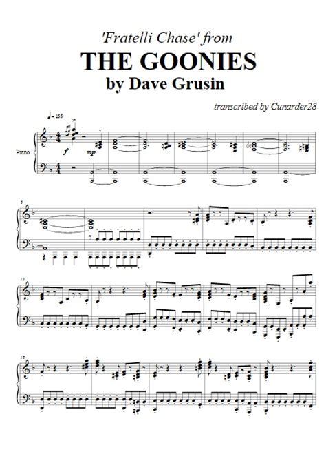 the goonies fratelli dave grusin piano plateau