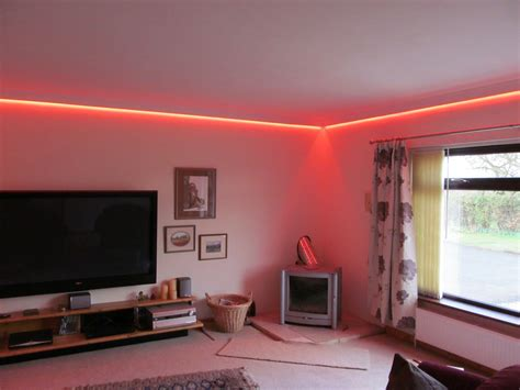 Led Lights Up Room by Concealed Led Colour Changing Coving Lighting