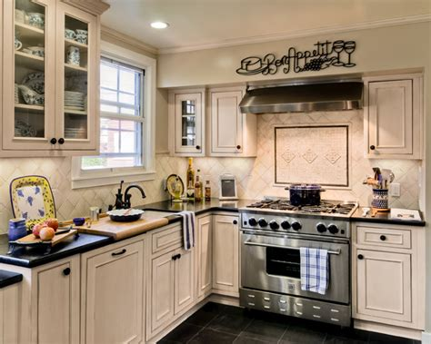white cabinets small kitchen showplace wood white inset small kitchen traditional 1272