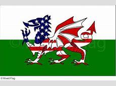 Mixed Wales and USA Flag Tshirt Designs
