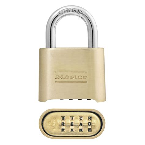 Shop Master Lock 2in W Brass Combination Padlock At Lowescom