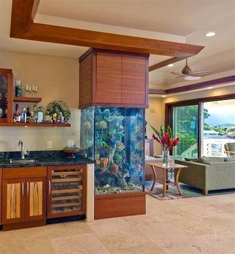 52 modern aquarium partition ideas for living room