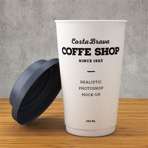 Paper coffee cup mockup PSD file   Free Download