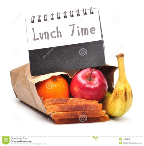 lunch time clipping path image of diet