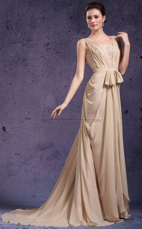 long square neck chiffon  lace champagne mermaid