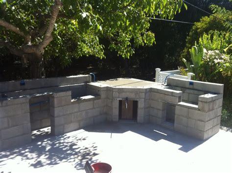 Diy Outdoor Kitchen Cinder Block Home Romantic