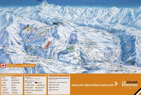 Le Grand Bornand plan des pistes - Alpski.com
